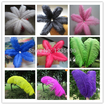 """50pcs/lot,18-""""20"""" inches length, choose colour  ostrich feathers for wedding decor,Wholesale prices!"""