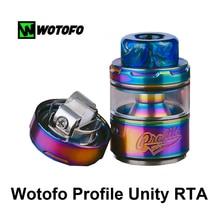 2019 Newest Original Wotofo Profile Unity RTA Tank Rebuilding Dripping E Cigarette Vaporizer 25mm 3.5/ 5ml Atomizer Vape Tank