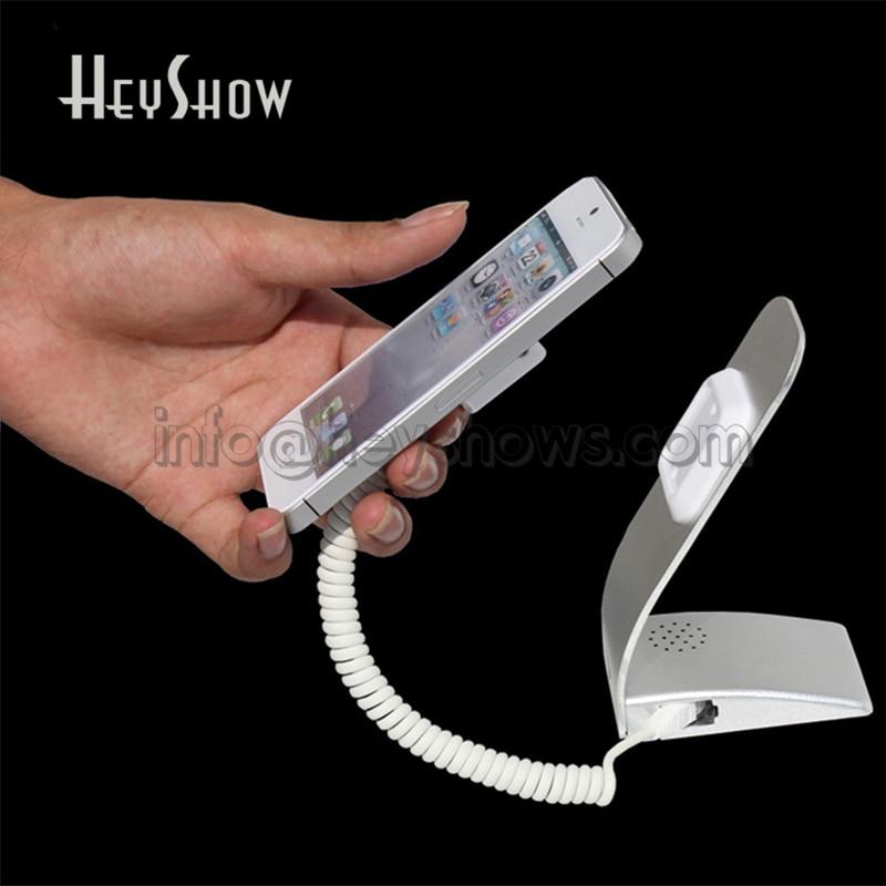 10 STK Simple Metal Mobiltelefon Sikkerhed Display Alarmstativ med - Sikkerhed og beskyttelse - Foto 1