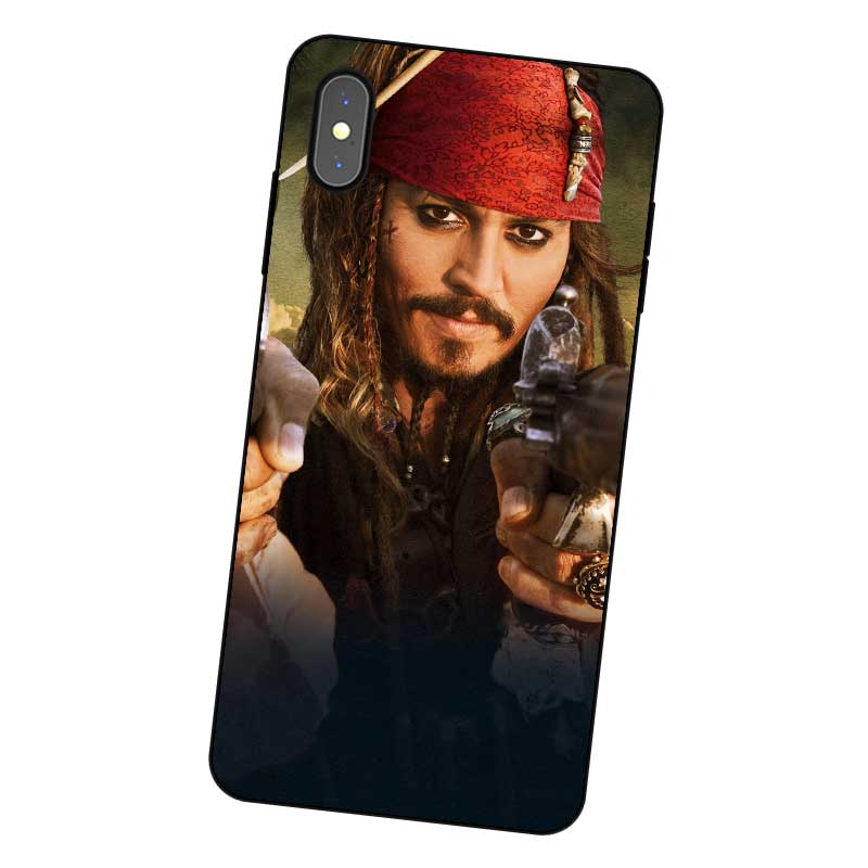 P168 Pirates Of The Caribbean Cool Black Silicone Case Cover For Apple iPhone 11 Pro XR XS Max X 8 7 6 6S Plus 5 5S SE