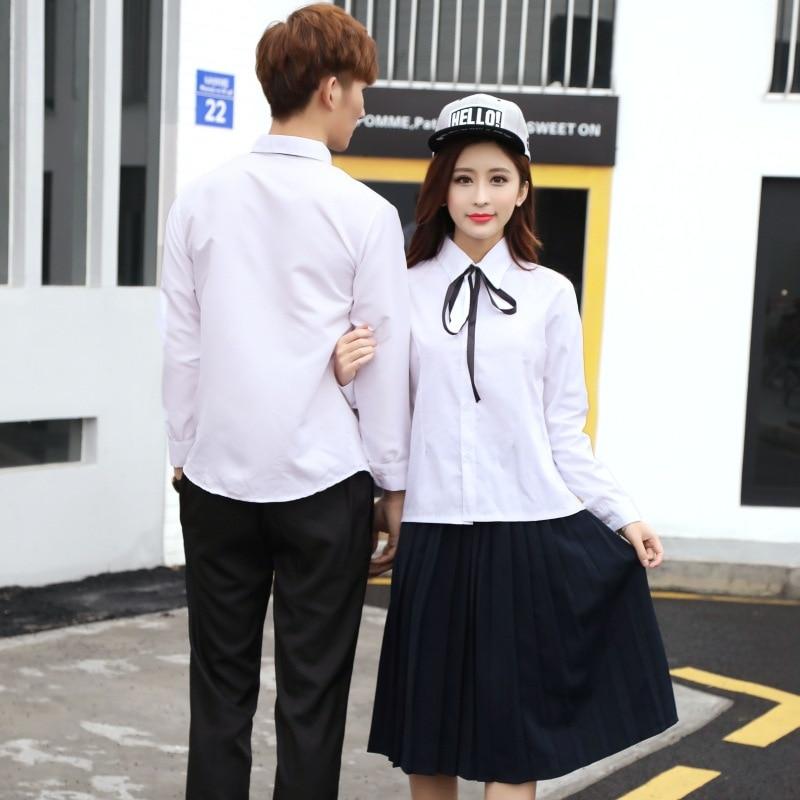 67228ccd22 Teenager School Uniform Junior Senior Students' Uniforms Long Sleeve Pleated  Skirt Set JK Uniforms Sailor School Clothes D 0222-in School Uniforms from  ...