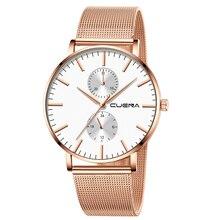 새로운 남성 울트라 얇은 석영 시계 Ceasuri 최고 브랜드 럭셔리 시계 남자 간단한 비즈니스 남성 시계 스테인레스 스틸 군사 시계