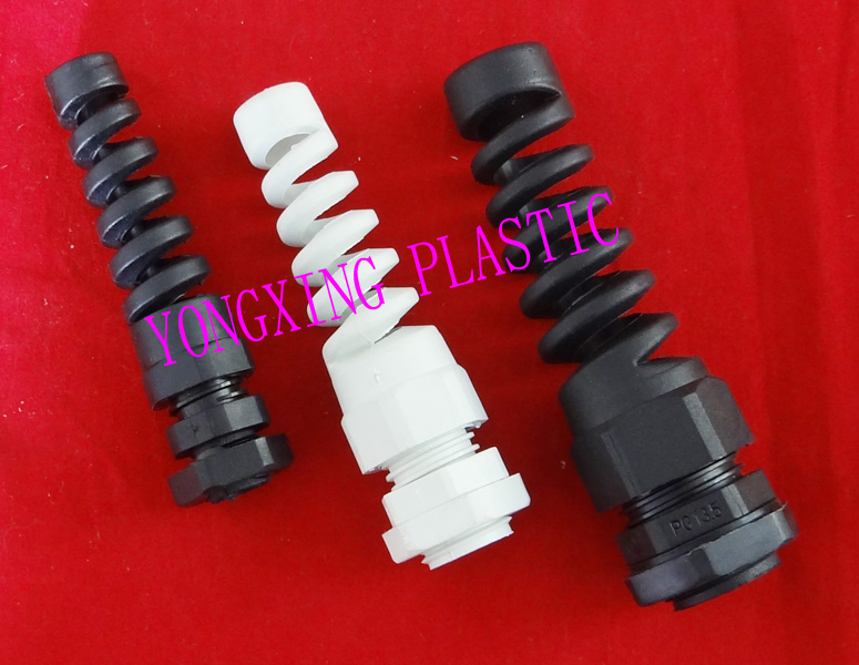 2017 freeshipping bending cable glands PG11 PG13.5 water-proof connector white and black color