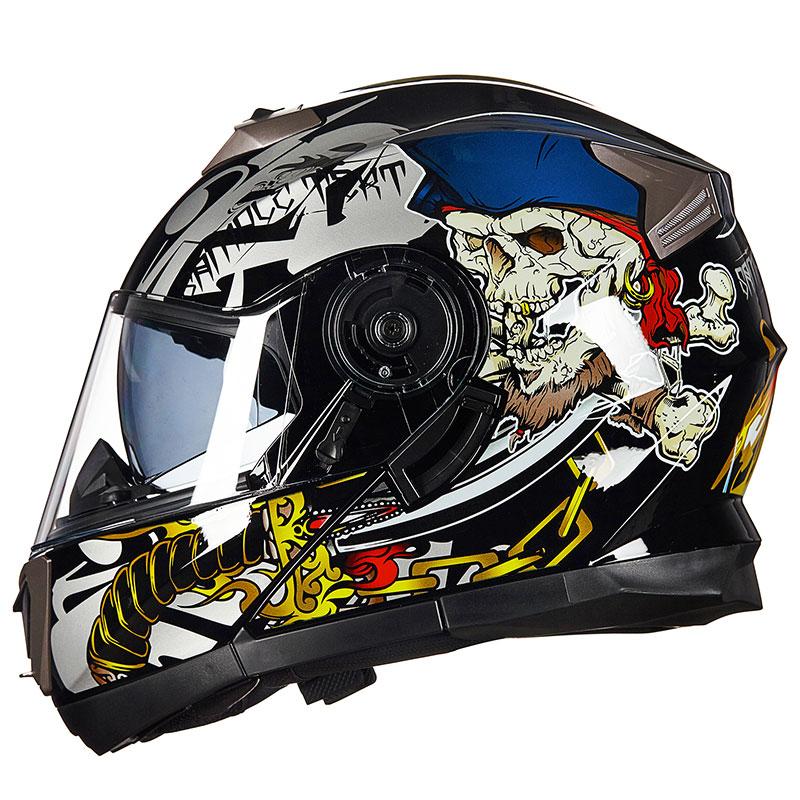 4 сезона мотоцикл GXT 160 откидной шлем двойная линза полный шлем Casco DOT ECE стикер Гонки Capacete - 6