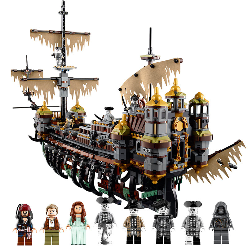 2018 NEW 16042 Legoing Pirate of The caribbean 71042 The Slient Mary 2344Pcs Bricks Pirate Caribbean