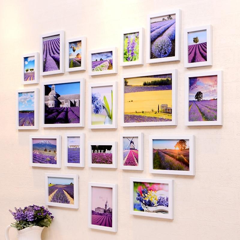 JUH GOHIDE свадебный подарок деревянная рамка сердце сочетание фотографии креативная подвесная настенная, композиционная фоторамка гостиная фото стена