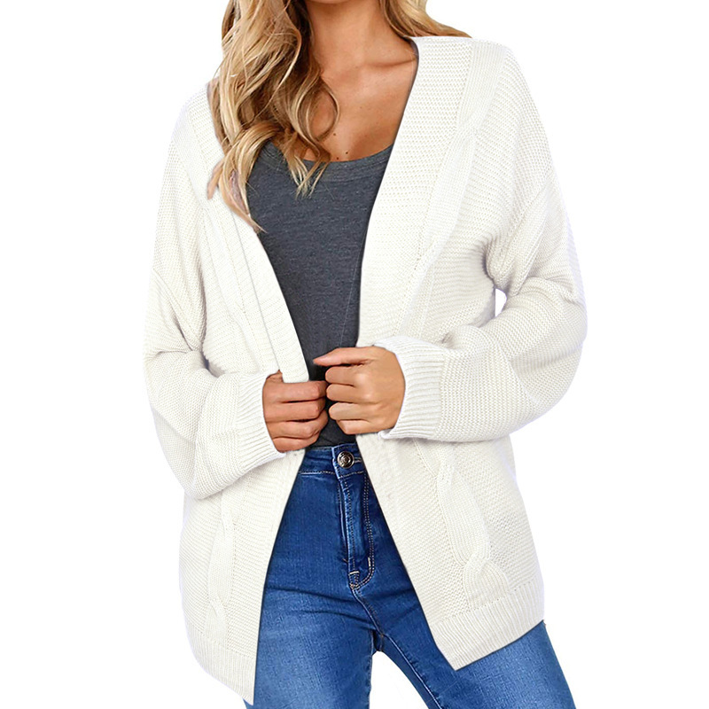 MUXU white women cardigan sweters invierno sweaters and long sleeve knitwear chompa fashion cardigans sueter mujer