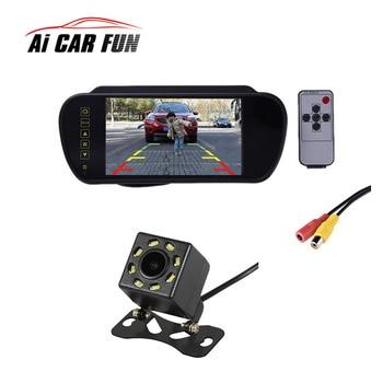 "2 In1 Car Parking System Kit 7"" Digital LCD Color Rearview Display Monitor + Waterproof Reversing Backup Rear View Camera"