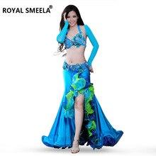 Gratis frakt Ny design topp kvalitet högkvalitativ magdansuppsättning / kostym / magdans kläder / bellydance kjol 8053 tess