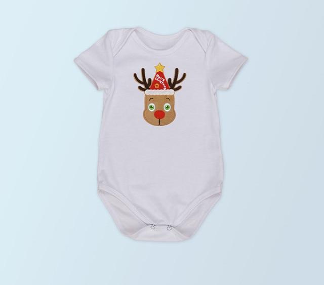Bebé primera Navidad Monos Papá Noel lindo Niños Niñas mono trajes ...