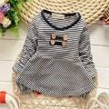 2015 Ocasional Otoño Del Bebé Niños Niñas Infantil Babi de Manga Larga Tops Camisetas MT242