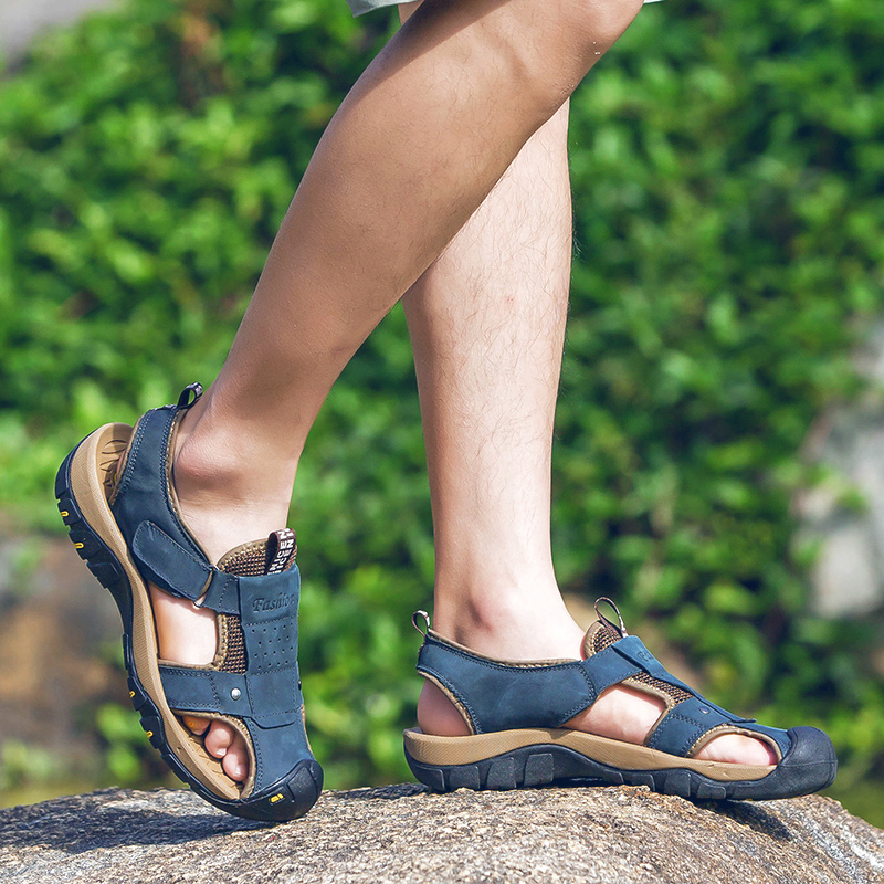 Valstone marka Genuine leather Sandals Men 2018 Vruće prodajne - Muške cipele - Foto 4