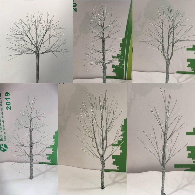 6pcs 14cm Shun sheng model DIY sand table model wire tree arm mix style tree mini tree simulation tree(China)