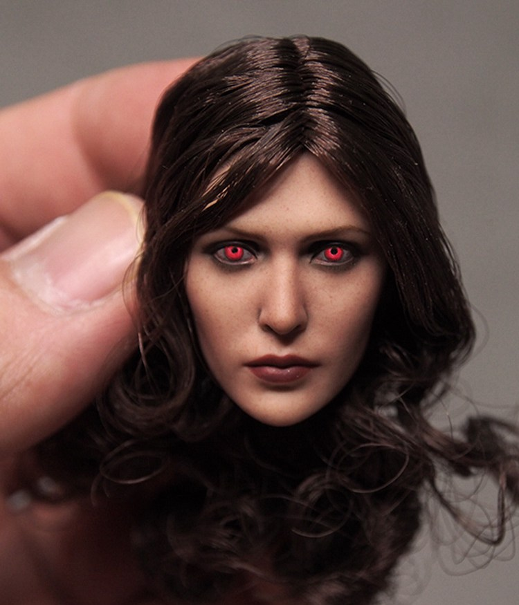 1:6 scale Female Figure accessories Avengers:Age of Ultron Scarlet Witch Red eyes head shape carved for 12 Action figure doll for bmw x5 e70 2008 2009 2010 2011 2012 2013 rear trunk security shield cargo cover auto accessories