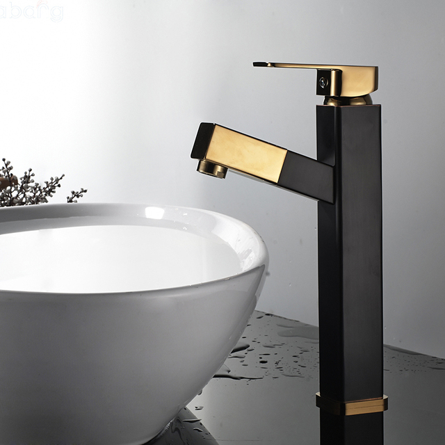 labang gold black water mixer basin sink faucet basin mixer brass tap bathroom faucet chrome pull - Modern Bathroom Faucets