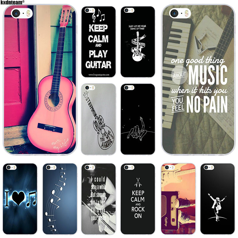 3a9f2af2876 Detail Feedback Questions about Retro Guitar Music Lover Soft Silicone TPU  Transparent Mobile Phone Cases for iPhone 4 4S 5 5S 5C SE 6 6S 7 8 X Plus  Shell ...