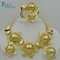 2017 Folli Superior Exquisito Dubai Chapado En Oro de La Joyería de Lujo Gran Boda Nigeriano Perlas Africanas de La Joyería Diseño de Vestuario