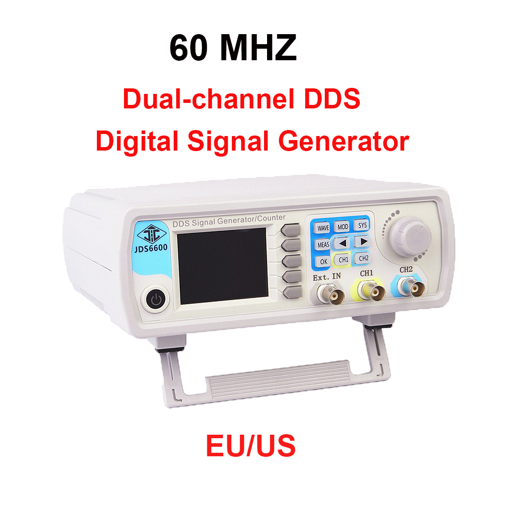60MHZ Signal Generator Digital Control Dual-channel DDS Function Signal Generator Frequency Meter Arbitrary 50mhz digital control dual channel dds function signal generator arbitrary waveform pulse frequency meter