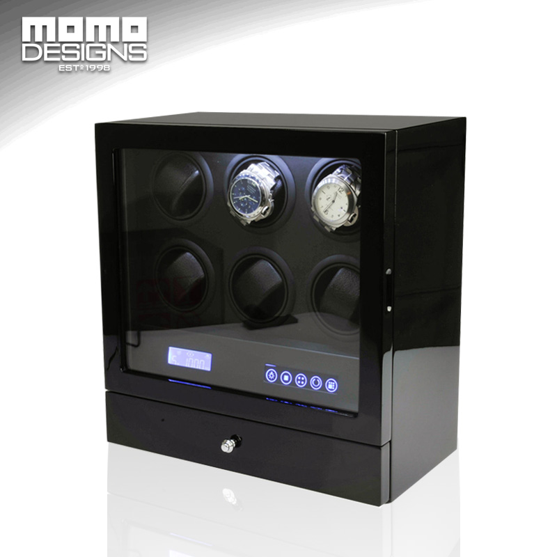 Luxury wooden watch winder automatic watch winder box 6 2 watch storage case for birthday gifts