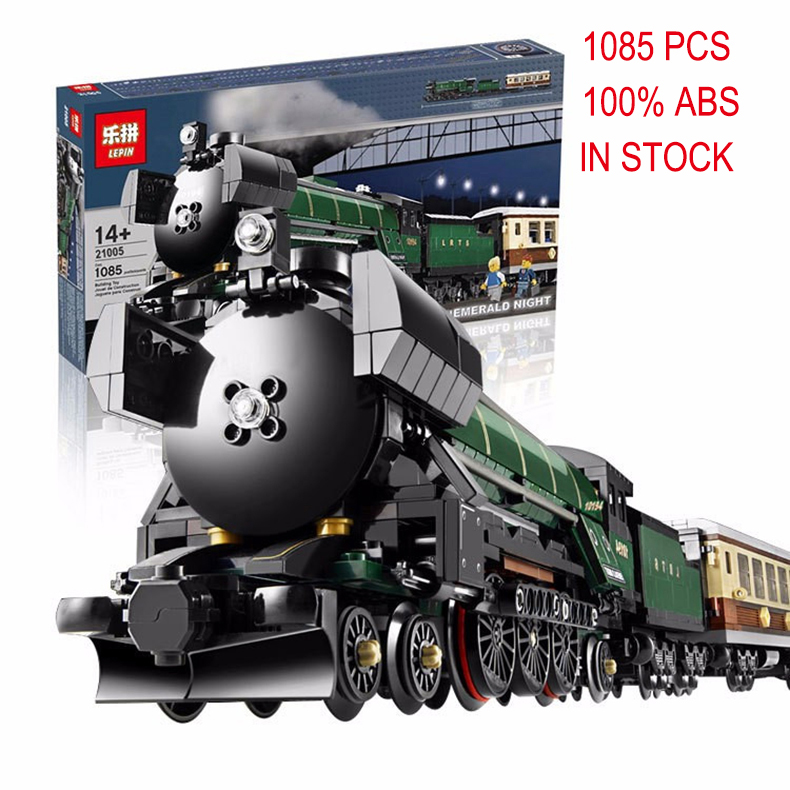 2016 new LEPIN 21005 Creator series the Emerald Night model building blocks set Classic compatible legoed Steam trains Toys 2016 new lepin 15006 2354pcs creator palace cinema model building blocks set bricks toys compatible 10232 brickgift