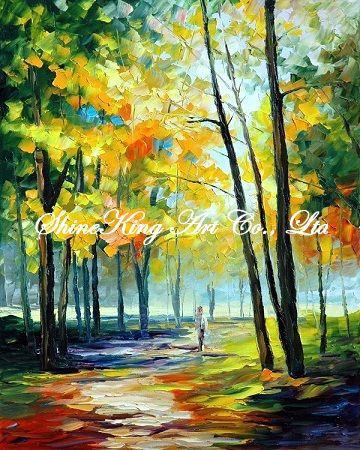 handmade landscape font b knife b font oil painting K114