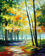 handmade landscape knife oil painting K114