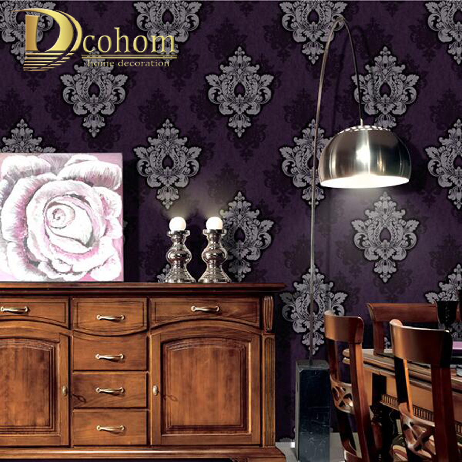 Aliexpress Com Buy 3d Walls Wallpaper Rolls Photo Wall: European Vintage Luxury Damask 3D Wallpaper For Walls