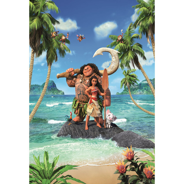 Custom Vinyl Cartoon Moana Waialiki Maui Green Island Palm