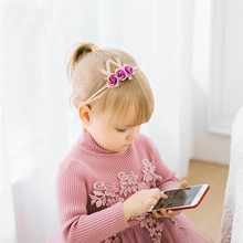 1pcs Nylon Headband Deer Antler Flower Headbands, Christmas Hair Band For Girls, Kids Cute Soft Elestic Accessories