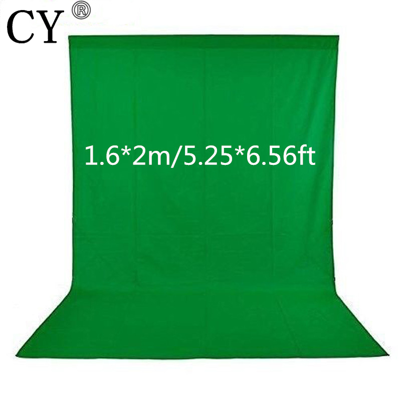 CY Fotografia 1.6x2m Green Screen Photo Background Non-woven Fabrics Photography Backdrops Backgrounds For Photo Studio