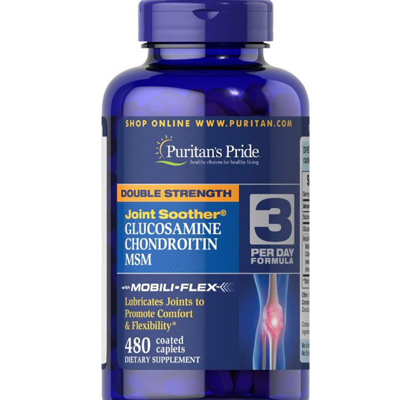 ФОТО Double Strength Glucosamine, Chondroitin & MSM Joint Soother-480 Caplets  free shipping