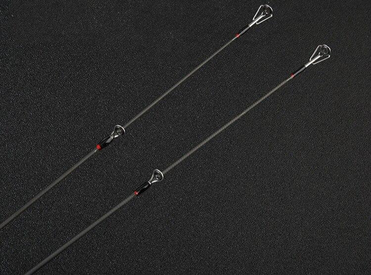Duas Pontas Barco jangada Vara de Pesca Peixe Pesca Canne Preto