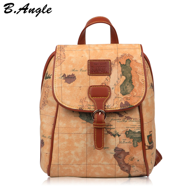 2016 fashion vintage high quality world map backpack women backpack 2016 fashion vintage high quality world map backpack women backpack leather backpack printing backpack gumiabroncs Gallery