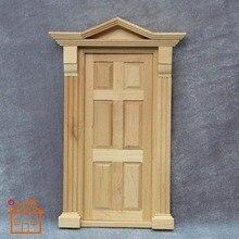 1:12 дверь кукольного домика с рамкой для миниатюрной деревянной кукла украшение для дома