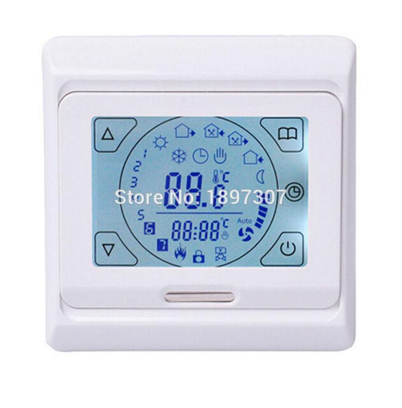 M9 (E91) 16A érintőképernyős padlófűtéses termosztát padlóérzékelővel, 3M hőmérsékletszabályozó rendszerrel