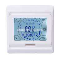 E91 Touch Screen Weekly Programmable Heating Thermostat 16A 230VAC