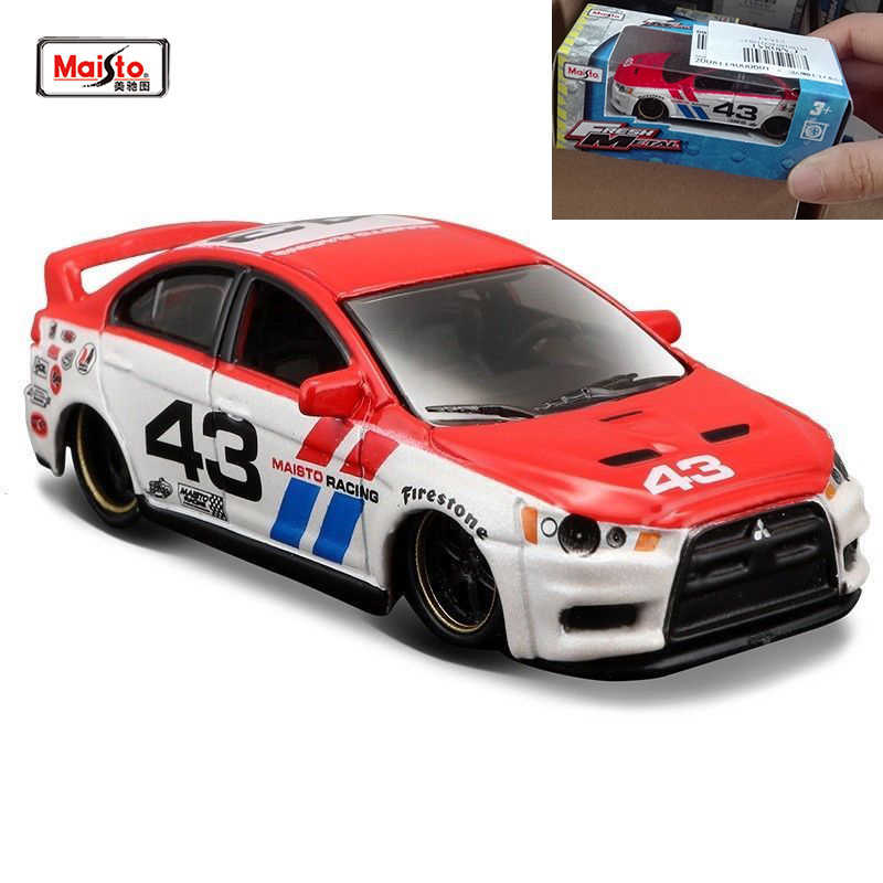For Collection Maisto 1/64 Scale Metal Zinc Alloy Car Model Lancer Evolution Type #43 Car Model for Fans Boys Birthday Gifts