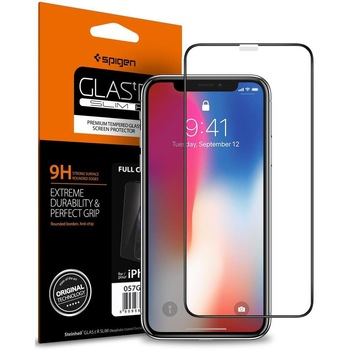 SPIGEN Glass.tR Full Coverage Tempered Glass Screen Protector for iPhone XS / iPhone X / iPhone XR / iPhone XS Max Accessories Electronics