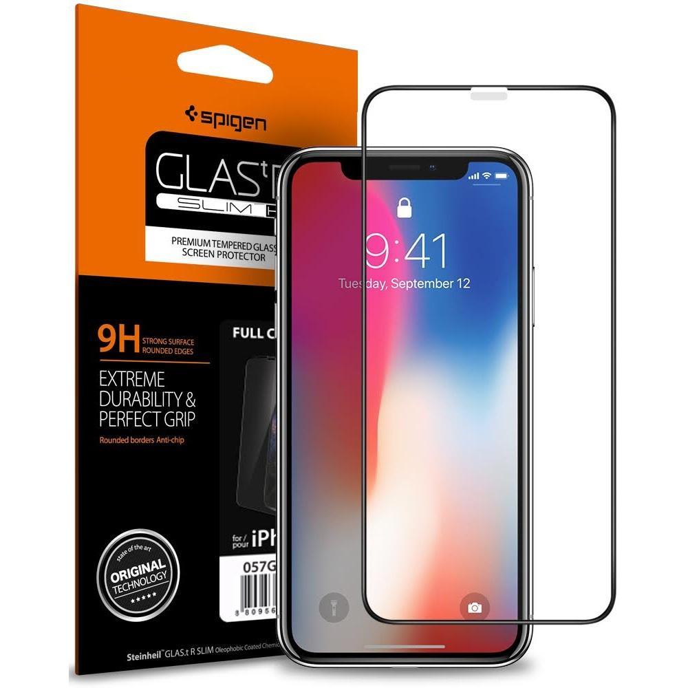 100% Original SPIGEN Glas. tR Volle Abdeckung Aus Gehärtetem Glas Screen Protector für iPhone XS/iPhone X/iPhone XR/iPhone XS Max