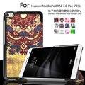 Уникальный дизайн Цвет Окрашенные Магнитный Smart Cover Для Huawei MediaPad М2 PLE-703L T2 7.0 PRO Tablet случаи PU Кожаный Чехол крышка