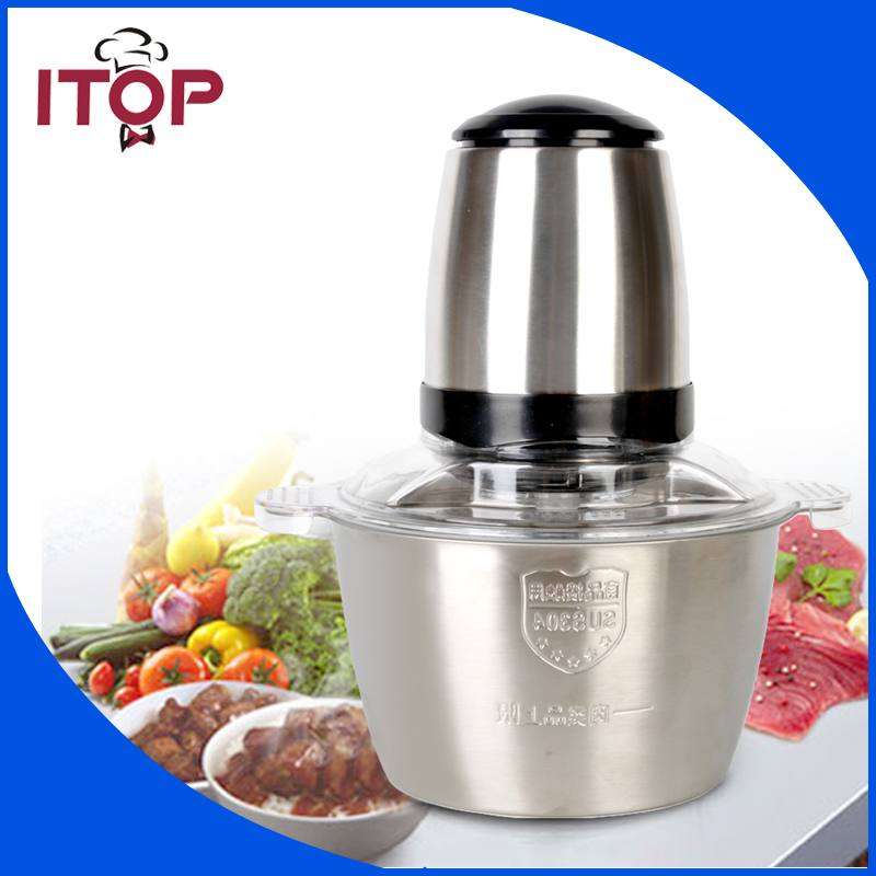 ITOP Electric Meat Slicer Meat Grinder 350W Chopper Hand Press Mincing Machine Household bear 220 v hand held electric blender multifunctional household grinding meat mincing juicer machine