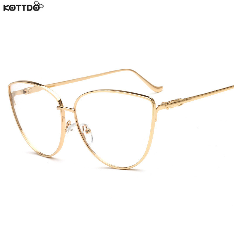 Eyeglass Frame Fashion 2017 : KOTTDO 2017 Metal Full Rim Fashion Women Glasses Frames ...