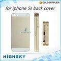 Peças de reposição cor original para iphone5s metal traseira habitação tampa traseira do caso do quadro para o iphone 5s 10 pçs/lote frete grátis