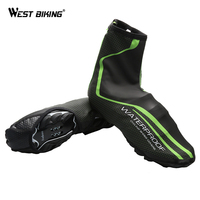 Cycling Shoes Cover Winer Warm Waterproof Bicycle Protector Overshoes Rain Windproof Bike Overshoes Cycling Zippered Shoe