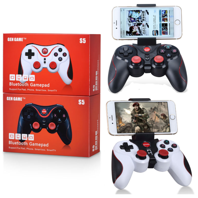 S5 Wireless Bluetooth Game Console Handle Controller Gamepad For IOS Android OS Phone Tablet PC Smart TV ...