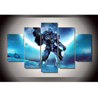 Frame HD Printed Modern Canvas 5 Panel Game Steel Warrior Living Room Pictures Painting Wall Art