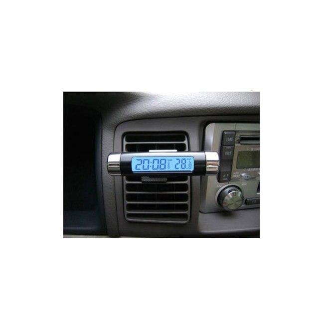 Free Shinpping Car electronic watch car electronic clock auto clock car thermometer luminous car clock