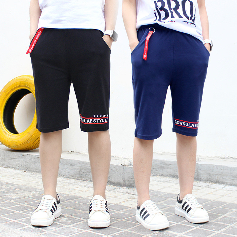 Hot Sale 2019 Summer Children Boys   Shorts   Cotton Print Letter Casual   Shorts   For Teens Boys 6 8 10 12 14 Years Kids Clothing