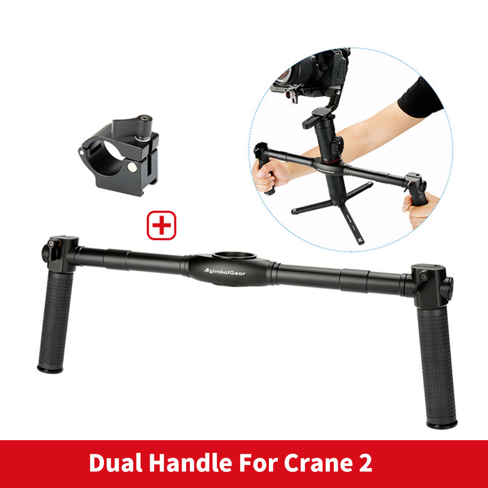 Stabilizer Grip Dual Handheld Extended Handle holder For Zhiyun Crane 2 Crane V2 Crane Plus Crane M 3-Aixs Handheld Gimbal low price 2 t thickening folding car small crane engine hanger hanging manual hydraulic crane jack for sale