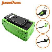 Powtree 40 V 6000 mAh recargable batería de repuesto para la batería de Creabest 40 V 200 W GreenWorks 29462, 29472 de 22272 G-MAX GMAX l30